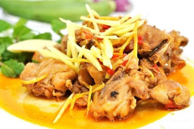 Thịt gà kho với gừng thơm ngon chuẩn vị